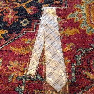 Men's Eniston necktie Gray and silver standard NWT